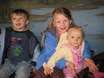 Josten, Grace, and Clara enjoyed the sea life